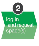 Log in and request spaces